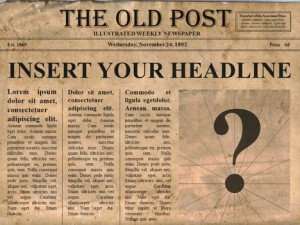 london vintage newspaper